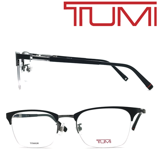 TUMI メガネフレーム トゥミ メンズ マットブラック メガネフレーム 眼鏡 TU-10-0062-01 ブランド