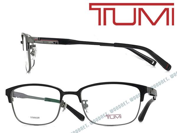 TUMI メガネフレーム トゥミ メンズ マットブラック×グレー 眼鏡 TU-10-0067-01 ブランド