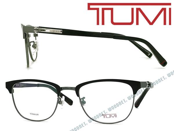 TUMI メガネフレーム トゥミ メンズ マットブラック×ライトグレー 眼鏡 TU-10-0072-02 ブランド