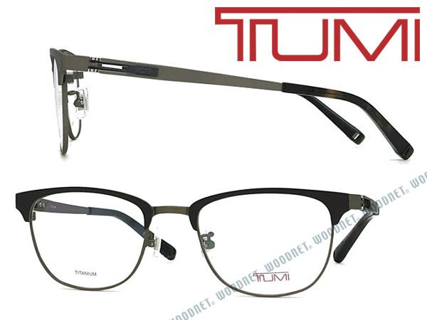 TUMI メガネフレーム トゥミ メンズ マットブラック×アンティークゴールド 眼鏡 TU-10-0072-04 ブランド