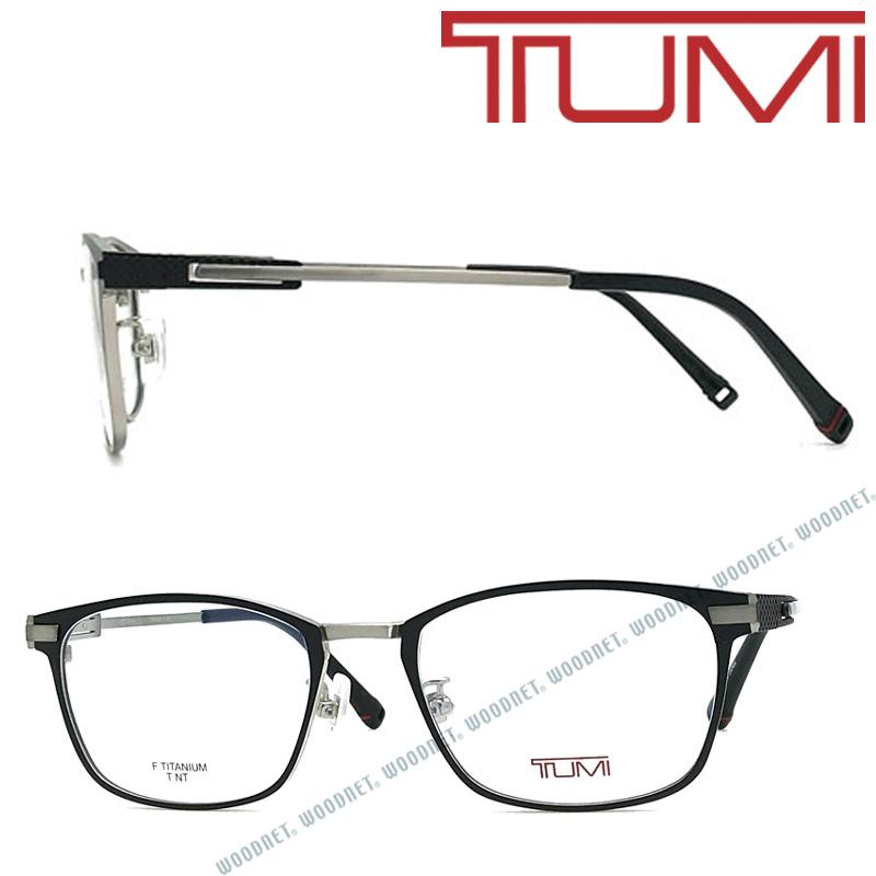 TUMI メガネフレーム トゥミ メンズ マットブラック×マットシルバー 眼鏡 TU-10-0073-01