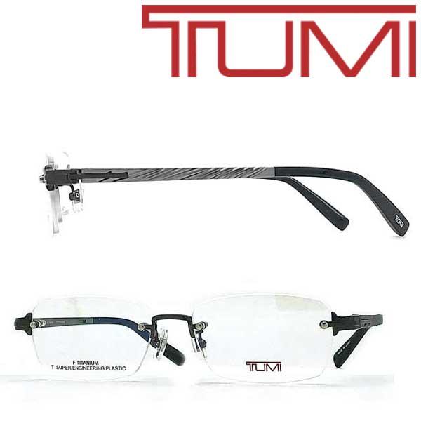 TUMI メガネフレーム トゥミ メンズ マットシルバー 眼鏡 TU-10-0078-03 ブランド