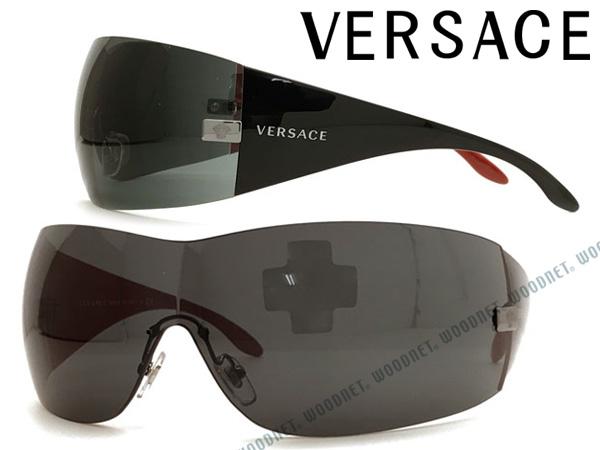 VERSACE サングラス UVカット ベルサーチ ちょいワル ちょい悪 メンズ&レディース ブラック 0VE-2054-1001-87-01 ブランド