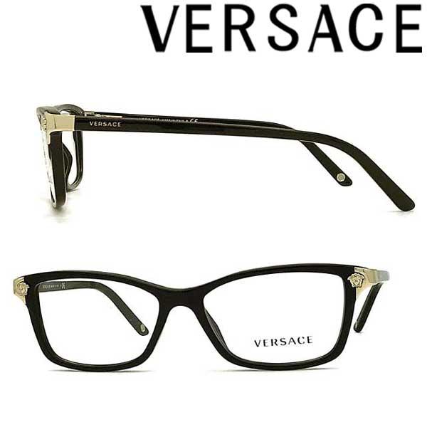 VERSACE メガネフレーム ベルサーチ メンズ&レディース ブラック 眼鏡 0VE-3156-GB1 ブランド