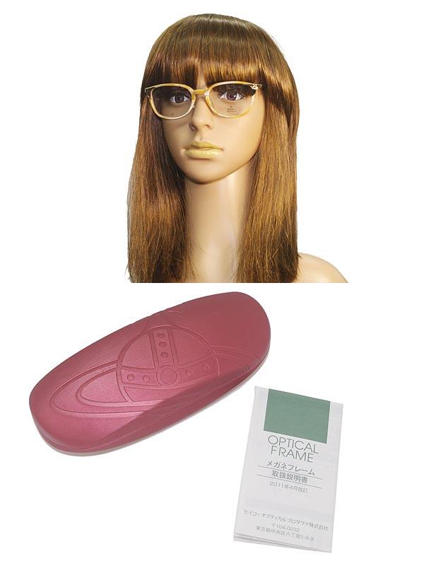 Vivienne Westwood 眼鏡 マーブルベージュ ヴィヴィアン・ウエストウッド メガネフレーム めがね VW-7049-BE ブランド/レディース/女性用/度付き・伊達・老眼鏡・カラー・パソコン用PCメガネレンズ交換対応/レンズ交換は6,800円~