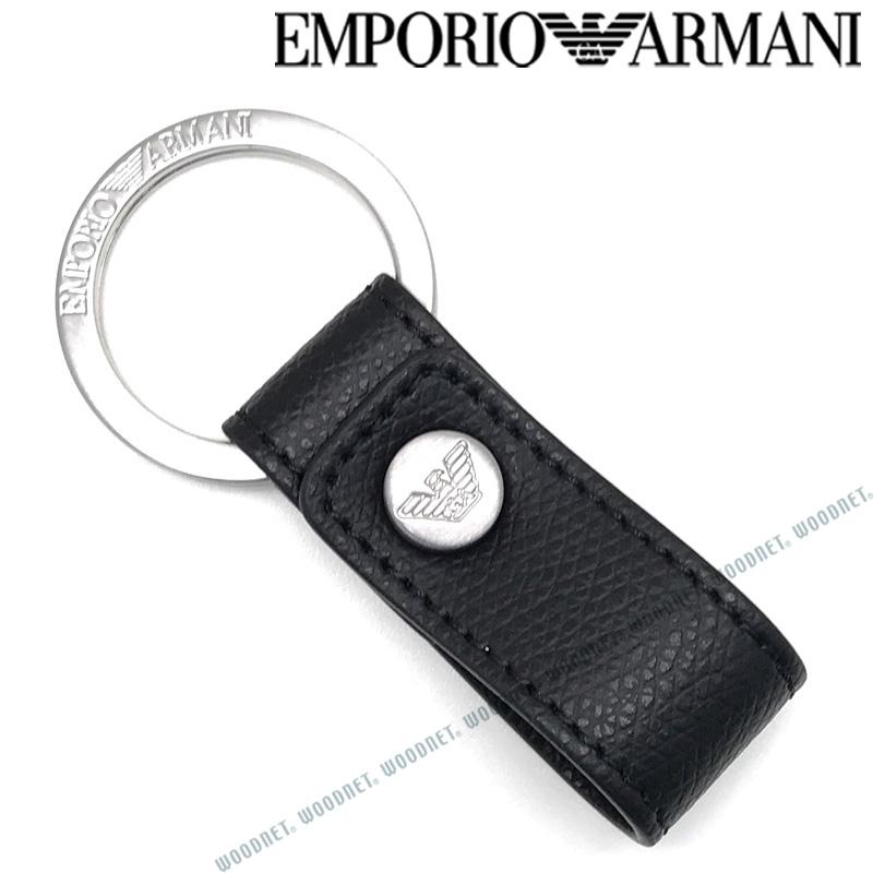EMPORIO ARMANI キーホルダー エンポリオアルマーニ メンズ&レディース ブラック×マットシルバー キーケース キーリング Y4R172-YAQ2E-81072 ブランド