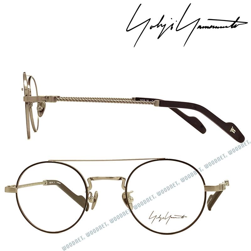 Yohji Yamamoto メガネフレーム ヨウジヤマモト メンズ&レディース ブラック×シルバー 眼鏡 YY-19-0027-05 ブランド