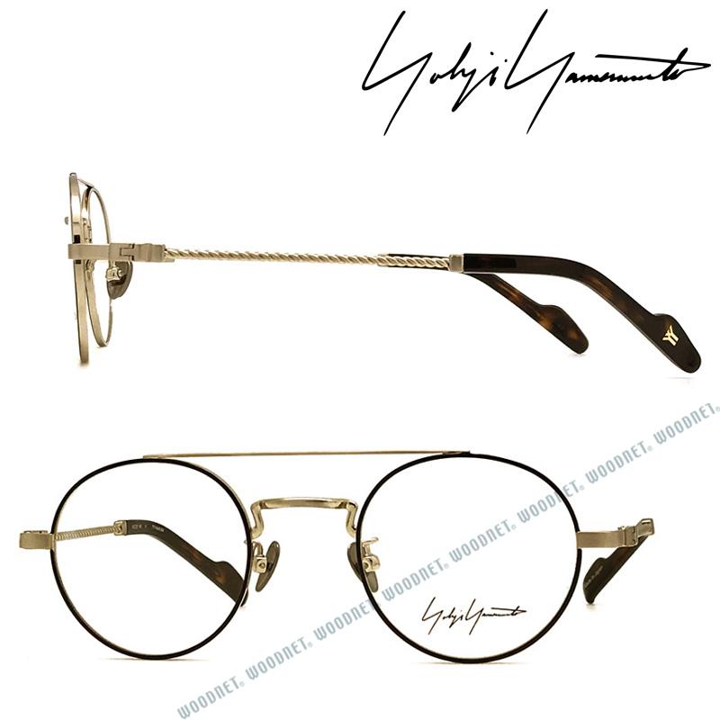 Yohji Yamamoto メガネフレーム ヨウジヤマモト メンズ&レディース ブラック×シャンパンゴールド 眼鏡 YY-19-0027-06 ブランド
