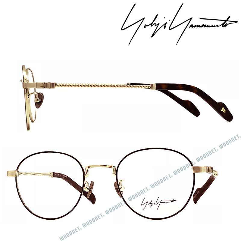 Yohji Yamamoto メガネフレーム ヨウジヤマモト メンズ&レディース ブラック×シャンパンゴールド 眼鏡 YY-19-0029-06 ブランド