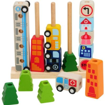 Im Toy Company Sort Count City Educational Toys Wooden Puzzles 1 Year Old 1 Year Old Children For Educational Toy Puzzle Play Educational Toys