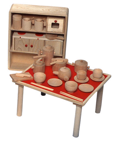 KOIDE Make Believe Kitchen Set House Set Security (girl) Made In Japan  Japanese Wooden House Kitchen Utensils Kitchen Set Tree House Set Baby Gifts