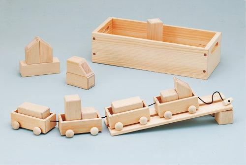 積み木 「森のトロッコ 保育つみき」日本製(送料無料)つみき 積木 ブロック 木製 おもちゃ 知育 木のおもちゃ 【楽ギフ_のし】【楽ギフ_メッセ入力】