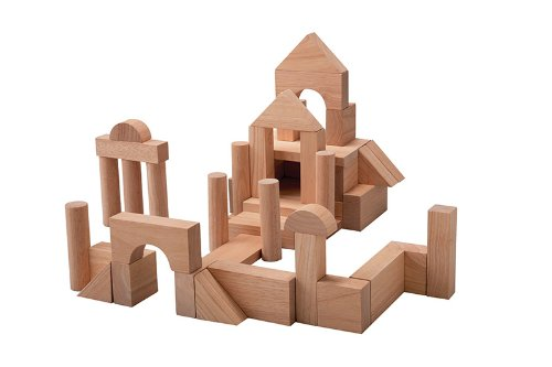 Are You Not Looking For A Big Building Block Toy 35cm 35mm Of The Unit Block 50 Plantoys Plan Toy Unvarnished Wood No Painting Tsumiki Building