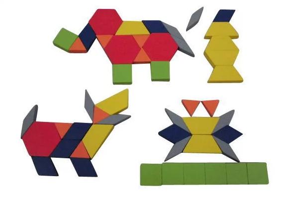 パターンブロックのお試し50個のセットです 綺麗な図柄ができる 図形の理解が深まる 知育玩具 6種類の平らな積み木が250個 パズル 3歳 4歳 お試しセット パターンブロック つみき メーカー直送 物品 タングラム 積み木 パズル遊び 幼児 教育