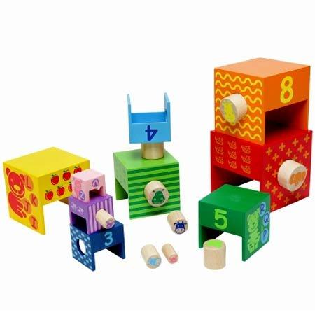 I'mTOY アイムトイ スタッカータワー知育玩具 知育 おもちゃ 知育おもちゃ 木製 木 ランキング おすすめ 人気 玩具 3歳 誕生日【2013】
