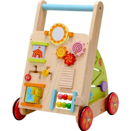 IMTI Babyfirstwalka Hand Car Toys Push Birthday 1 Year Old Boy Girl Wood Gift Baby Toddler Giveaway Rattling Wooden Gifts