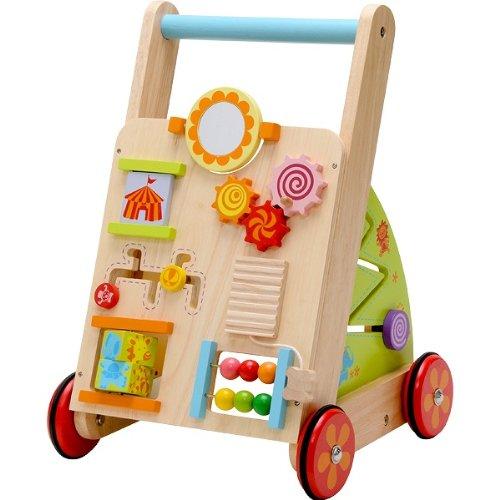 IMTI Babyfirstwalka BARROW Car Toys Push Birthday 1 Year Old Boys And Girls Wooden Gift Baby