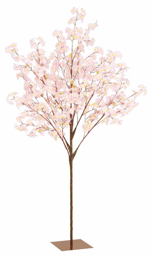 造花 210cm 桜ツリースタンド サクラ さくら 春の花 ピンク【送料無料】【代引き不可】【春装飾】【桜】