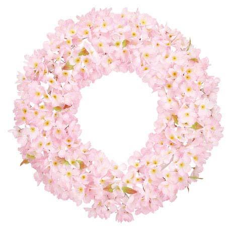 造花 桜リース(片面)60cm さくら サクラ 春の花 インテリア