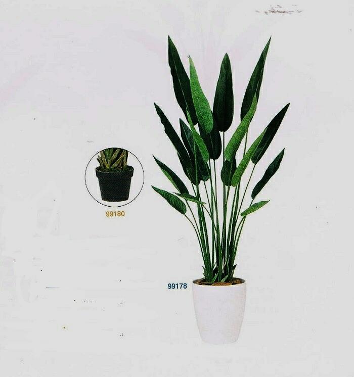 【人工観葉植物ストレチア】【フェイクグリーン】【造花】【ストレチア1.61m】【代引き不可商品】