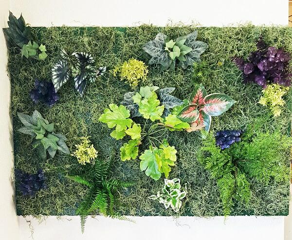 人工観葉植物壁面緑化グリーンパネル壁掛グリーン幅90cm縦60cm軽量送料無料触媒加工済強力両面テープ付何処でも簡単設置