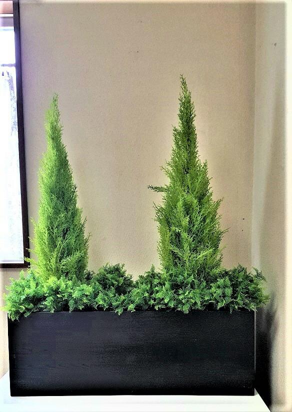 人工観葉植物 パーテーション 安い 触媒加工品 送料無料 1m フェイクグリーン ゴールドクレスト 人気急上昇 インテリアグリーン