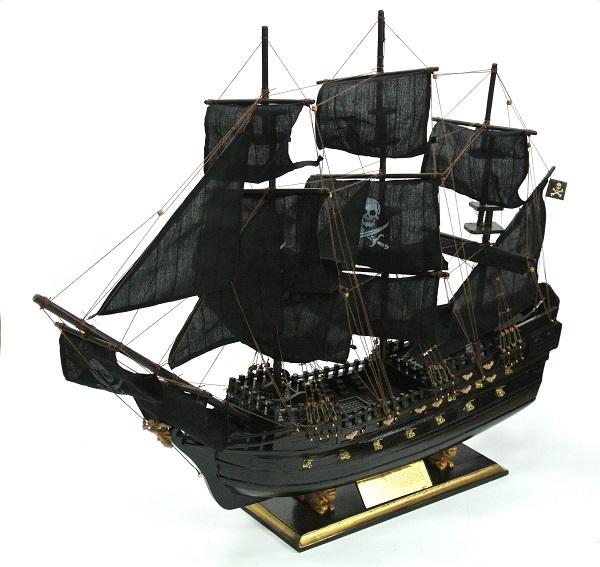 【帆船】【男のロマン】ブラックパール帆船【インテリア】【80cm】送料無料【代引き不可】