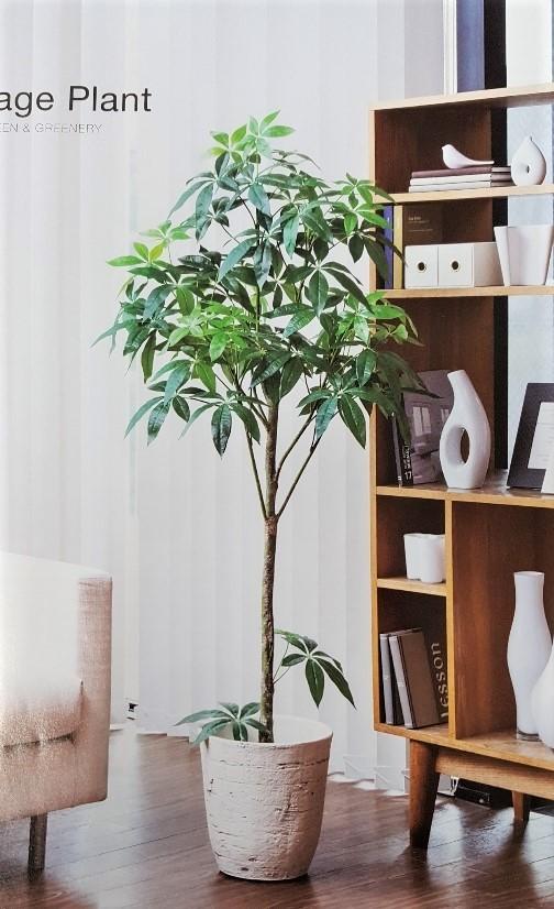 光触媒 人工観葉植物 光の楽園 光触媒 観葉植物 光の楽園 パキラ 人工観葉植物パキラポット1.5m 代引き不可送料無料新商品