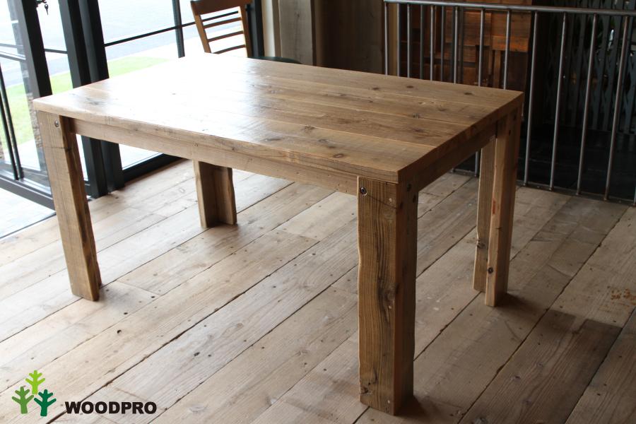 OLD ASHIBA(足場板古材)Aタイプ テーブル幅710~800mm×奥行400mm×高さ710mm(高さ指定は300~750mmまで対応可) 塗装仕上げ【受注生産】 【小型商品】