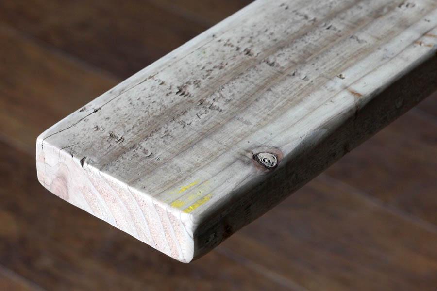 天板や棚板をDIYする時にあると便利な角材サイズ 木材 角材 売買 端材 古材 カット オーダー 足場板 板 棒 棒状材 裏桟 面取り済OLD diy 小型商品 サンディング仕上げ ASHIBA 無料 フリー板 無塗装〈受注生産〉 なめらかタイプ 祝日 厚35mm×幅115mm×長さ710~800mm 手磨き仕上げ 長さ800mm