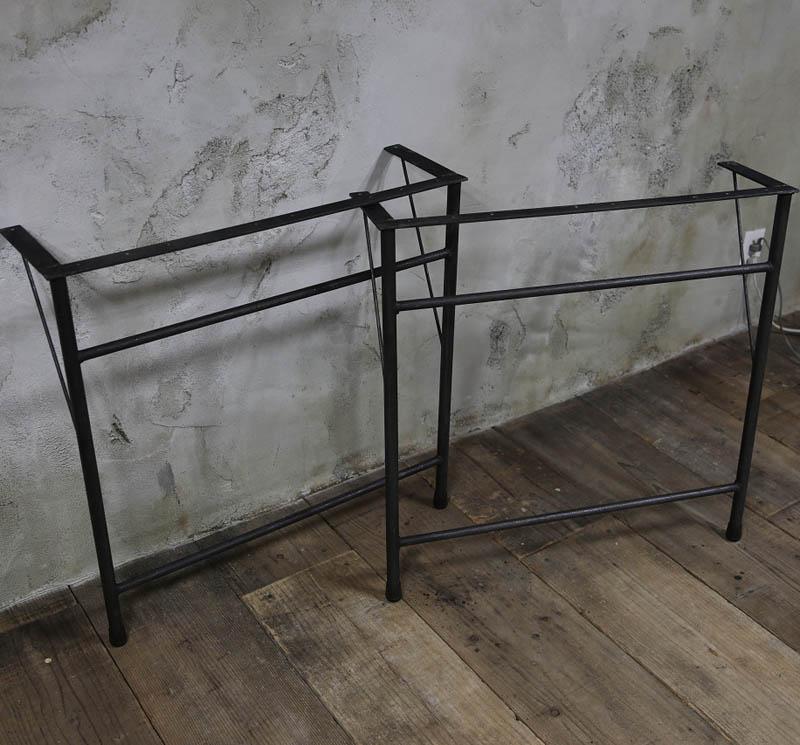 【鉄脚】アイアンテーブル脚 A型/2個セット(黒皮鉄ワックス仕上げ) 【小型商品】