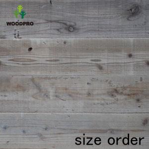 WOODPRO サイズオーダー テーブル 天板 ダイニング キッチン カウンター 棚板 DIY 天板のみ アンティーク 木材 OLD ASHIBA(足場板古材)フリー板(幅つなぎ材/縁無し)厚35mm×幅900mm(5枚あわせ)×長さ1110~1200mm 無塗装[受注生産] 【特大商品】