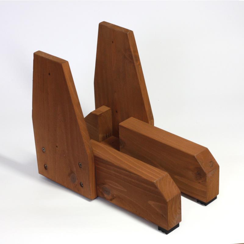 3方枠 ゴム脚付き 上下枠 タイプには使えません 枠付きフェンス 4方枠 小型商品 国産杉側面補強板付きB型※取り付けフェンス目安:高さ900~1200ミリ 2個入 専用脚 上質 1セット 1着でも送料無料 受注生産