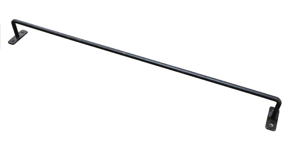 広島県生産 シンプル クールに空間を活かす収納名人に 黒皮鉄シリーズ アイアンハンガーバー ワックス仕上げ 幅500mm×奥行50mm ※ビス付きアイアンバー レール 小型商品 タオル掛け ブラック 超特価SALE開催 休日 アイアン バー タオルハンガー