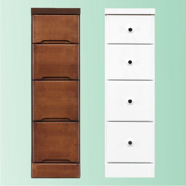 隙間家具 チェスト 幅25cm 4段 木製 日本製 完成品 スリム コンパクト エナメル ホワイト 白 ブラウン 送料無料