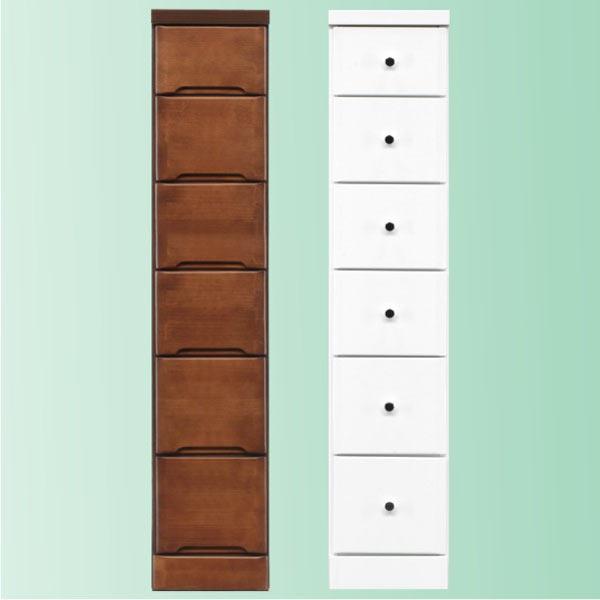 隙間家具 チェスト 幅25cm 6段 木製 日本製 完成品 スリム コンパクト エナメル ホワイト 白 ブラウン 送料無料
