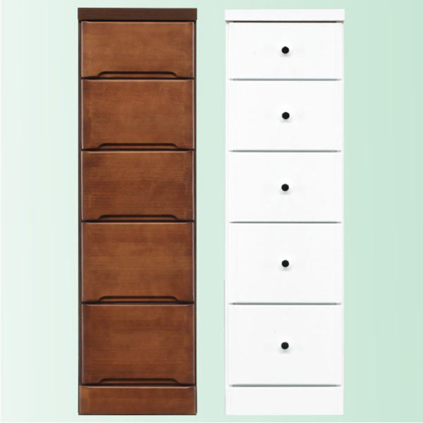 隙間家具 チェスト 幅30cm 5段 木製 日本製 完成品 スリム コンパクト エナメル ホワイト 白 ブラウン 送料無料