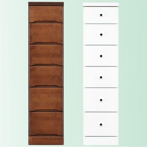 隙間家具 チェスト 幅30cm 6段 木製 日本製 完成品 スリム コンパクト エナメル ホワイト 白 ブラウン 送料無料