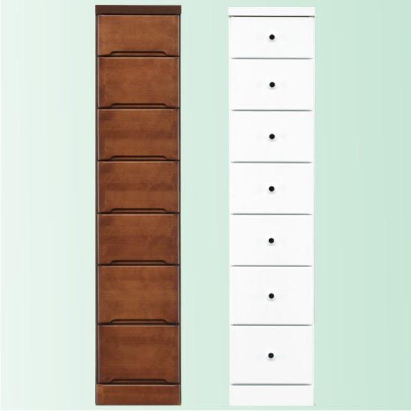 隙間家具 チェスト 幅30cm 7段 木製 日本製 完成品 スリム コンパクト エナメル ホワイト 白 ブラウン 送料無料