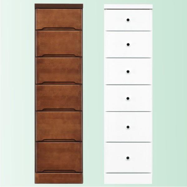 隙間家具 チェスト 幅32.5cm 6段 木製 日本製 完成品 スリム コンパクト エナメル ホワイト 白 ブラウン 送料無料