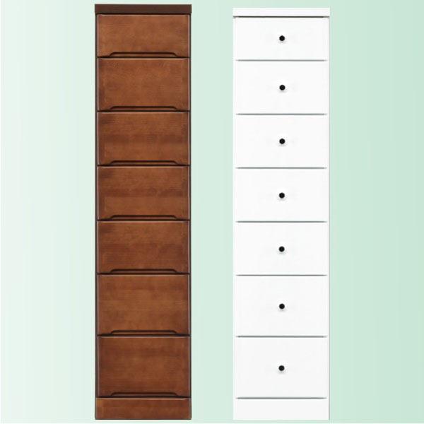隙間家具 チェスト 幅32.5cm 7段 木製 日本製 完成品 スリム コンパクト エナメル ホワイト 白 ブラウン 送料無料