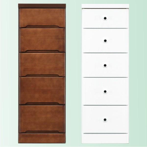 隙間家具 チェスト 幅35cm 5段 木製 日本製 完成品 スリム コンパクト エナメル ホワイト 白 ブラウン 送料無料