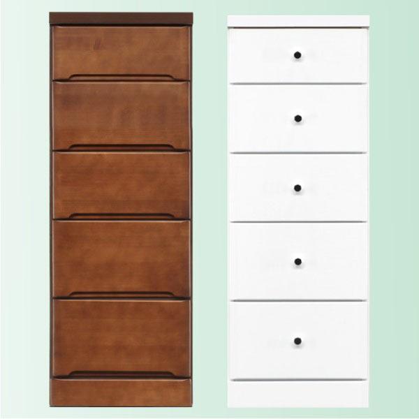 隙間家具 チェスト 幅37.5cm 5段 木製 日本製 完成品 スリム コンパクト エナメル ホワイト 白 ブラウン 送料無料