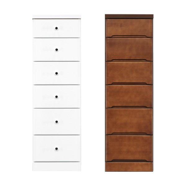 隙間家具 チェスト 幅37.5cm 6段 木製 日本製 完成品 スリム コンパクト エナメル ホワイト 白 ブラウン 送料無料