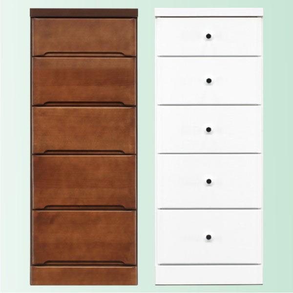 隙間家具 チェスト 幅40cm 5段 木製 日本製 完成品 スリム コンパクト エナメル ホワイト 白 ブラウン 送料無料