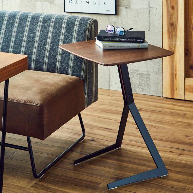 テーブル サイドテーブル ソファテーブル 幅45cm 木製 鉄脚 スリム コンパクト 送料無料