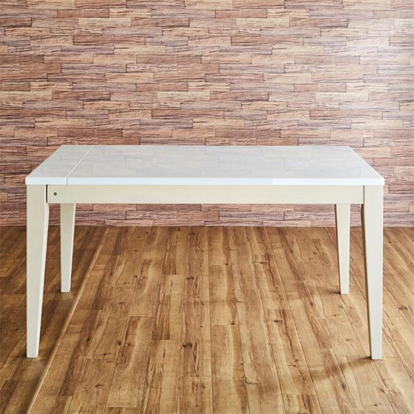 【安心・安全の開梱設置】 UV塗装の伸長式ダイニングテーブル アビー ABBY 幅130cm 180cm テーブル 伸長式テーブル エクステンションテーブル 長方形 鏡面仕上げ UV塗装テーブル ホワイトテーブル 白 送料無料