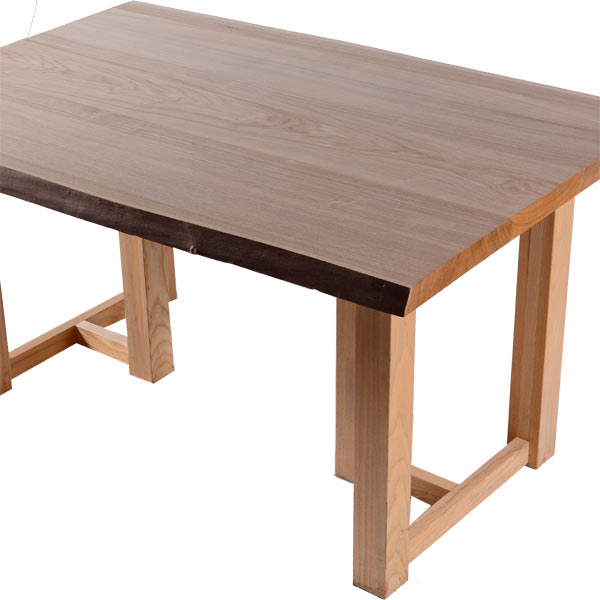 DIY テーブル天板のみ タモ材 はぎ 耳付き ウッドテーブル 長方形 木材 棚 材料 板 幅130cm フリー板 カット無料 送料無料