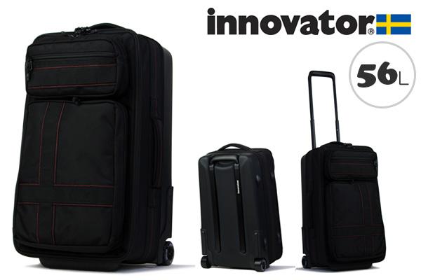 イノベーター innovator ハイブリッドソフトキャリー(56L、63cm) INV4W ブラック(TSAロック ナイロン+ウレタン樹脂)
