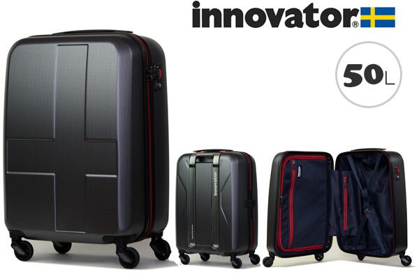 イノベーター スーツケース innovator ジッパータイプ ハードキャリー キャリーケース INV55 50L ブラッククロスカーボン(TSAロック ポリカーボネイト)